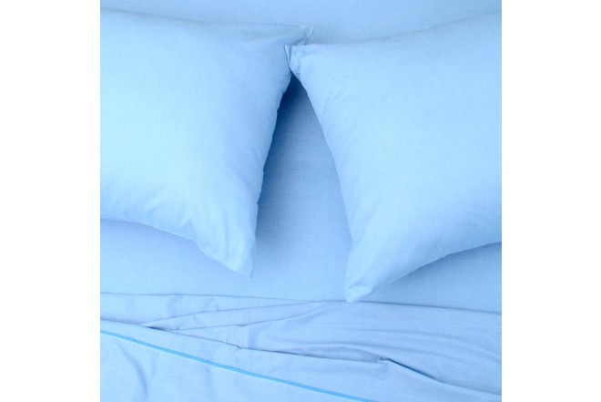 Sábana Plana K-LINE Extradoble Sesgo Azul 144 hilos