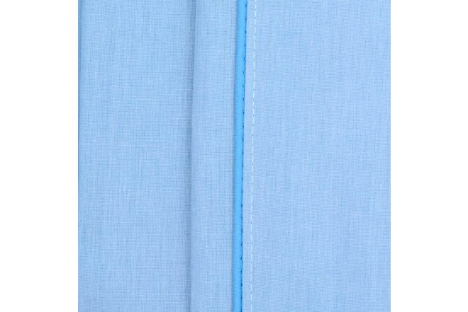 Sábana Plana K-LINE King Sesgo Azul 144 hilos