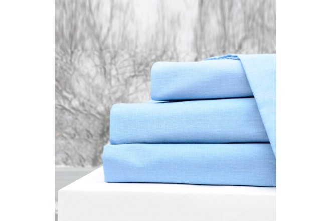 Semijuego K-LINE Sencillo Ajustable Azul 144 hilos