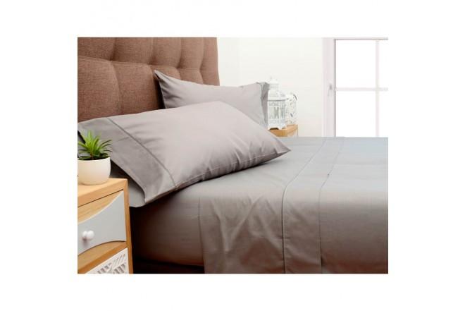 Semijuego de cama K-LINE King Ajustable Gris 144 hilos