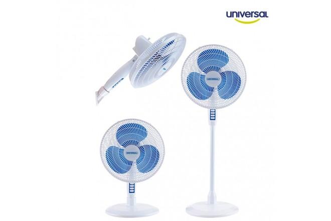 """Ventilador UNIVERSALl 16"""" 3 en 1 Azul"""