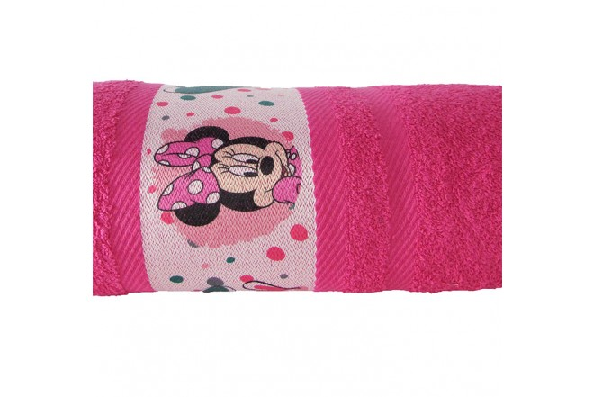 Toalla DISNEY Minnie 70 x 130 cm Fucsia