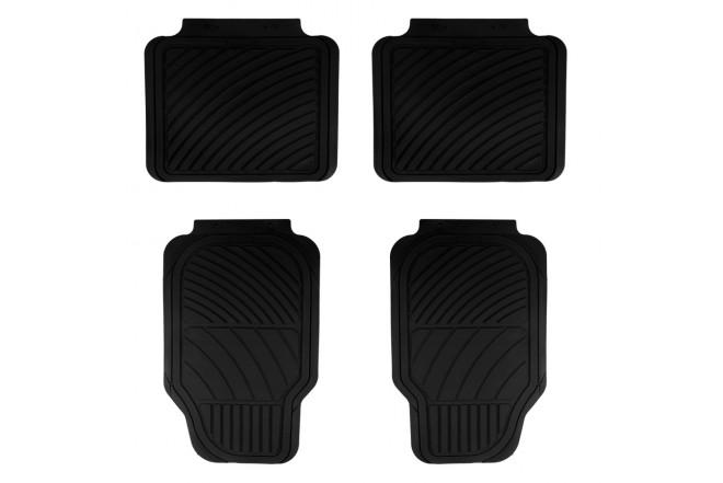 Tapete SIMONIZ dura line PVC 4 piezas Negro