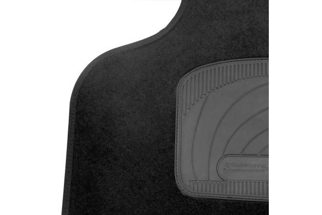 Tapete  SIMONIZ universal Renault alfombra negra 3 piezas Negro