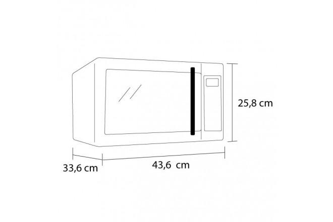 Horno Microondas HACEB AR HM-0.7  Blanco_2