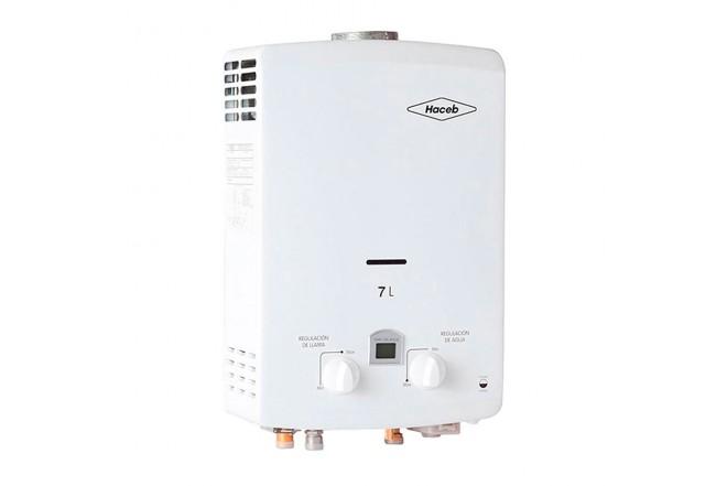 Calentador de Paso HACEB Tiro Natural 7Lt GN DISP Blanco2