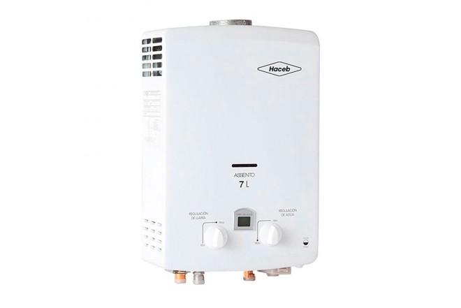 Calentador de Paso HACEB Tiro Natural 7Lt GN DISP Blanco3