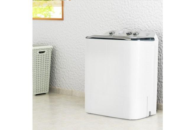 Lavadora HACEB Semiautomática 7 KG SA0700 Blanca 5