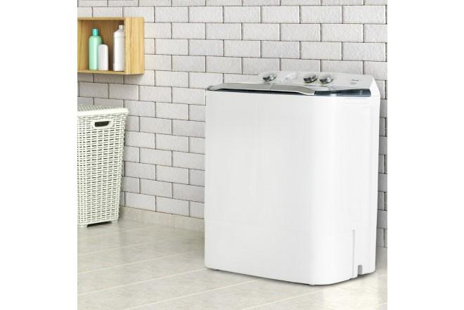 Lavadora HACEB Semiautomática 7 KG SA0700 Blanca 6