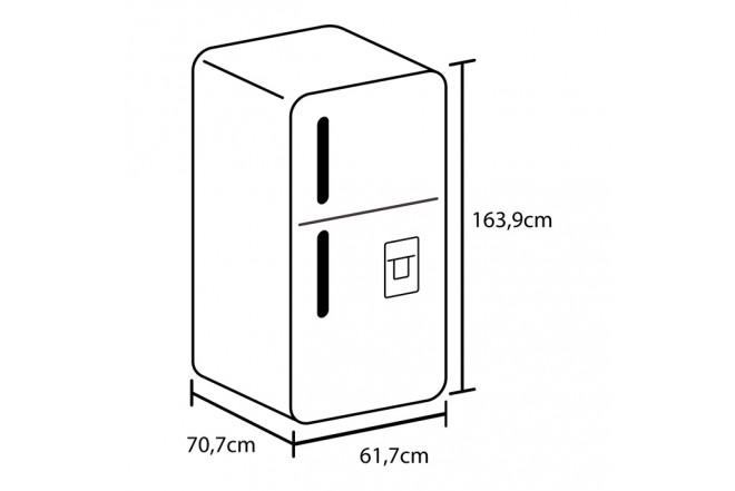 Nevera HACEB Austria 304Lt 9002083 Frost con Dispensador de Agua Gris 12