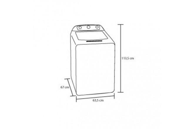 Lavadora HACEB Carga Superior 18 Kilogramos ATLAS Gris2