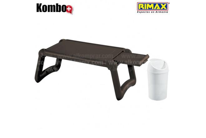 KOMBO RIMAX: Mesa Laptop Wengue +Papelera 1.5L