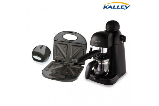 Kombo KALLEY Cafetera EX35 + Sanduchera SM300N