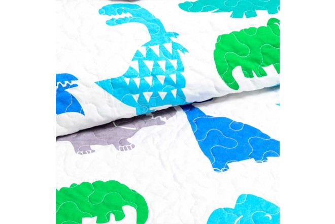 Cubrecama Sencillo K-LINE estampado Dinosaurios