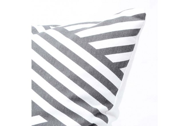 Cojín K-LINE 45 x 45 Estampado Blanco/Gris 89