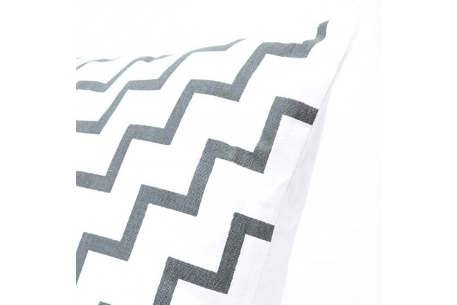 Cojín K-LINE 45 x 45 Estampado Blanco/Gris 96