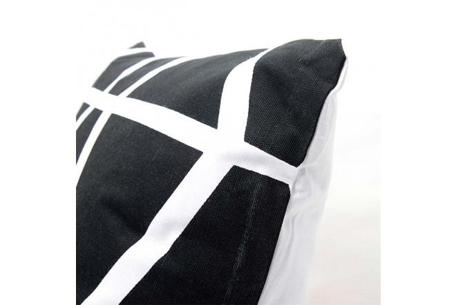 Cojín K-LINE 45 x 45 Estampado Blanco/Negro 97