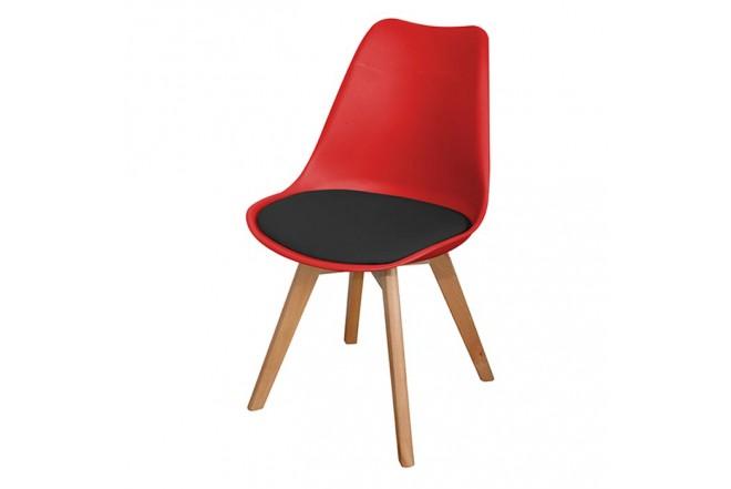 Silla de Diseño TUKASA 80033 Rojo/Negro