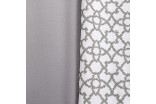 Juego de cama K-LINE Sencillo Estampado Blanco/Gris 100% Microfibra