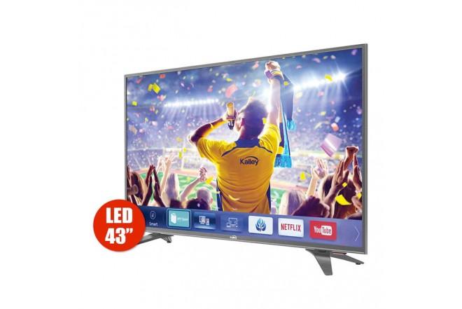 "TV 43""109cm KALLEY K43 4K-UHD Internet T2"