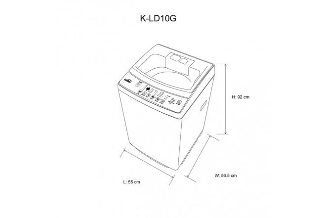 Lavadora KALLEY Carga Superior 10KG  K-LD10G Gris82