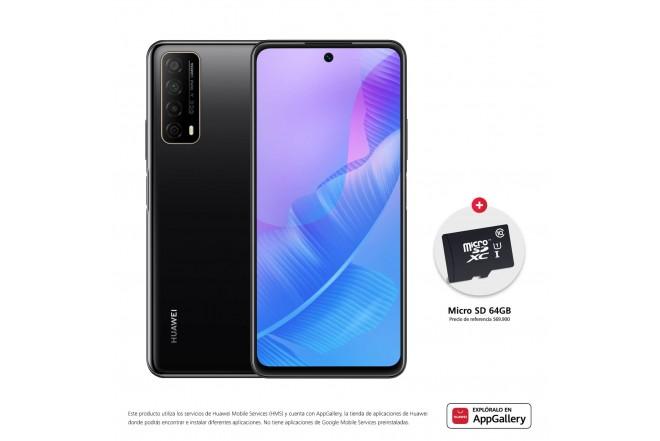 Celular HUAWEI Y7A 64GB Negro - Midnight Black + SD CARD 64GB-1