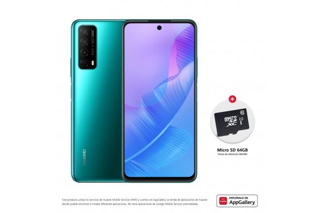 Celular HUAWEI Y7A 64GB Verde - Crush Green + SD CARD 64GB-1