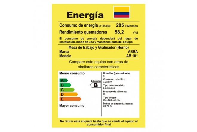 Estufa de Piso ABBA 4 Puestos Gas Natural AB101-5 Negro6