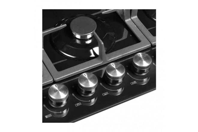 Cubierta ABBA CG E060N 5 Puestos Gas Propano Vidrio de Seguridad 75cm Quemador Triple Corona3