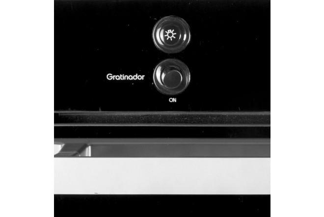Horno de Empotrar ABBA HGE20VEGTLN  Gratinador Gas Propano Vidrio Negro Reflectivo