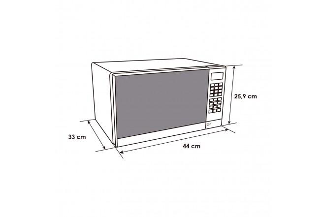 Horno Microondas ABBA HMA720CL7 S 10 Litros 120 V Vidrio Reflectivo