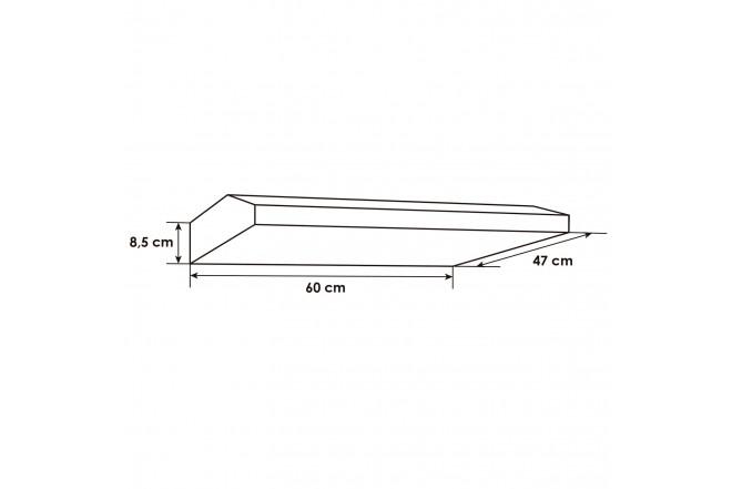 Campana Tipo Visera ABBA CRIX08-60X | Filtro Lámina Textil | 3 Velocidades | Acero Inoxidable
