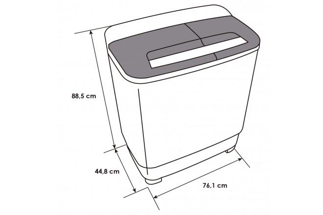 Lavadora Semiatomática ABBA LA70SA B 7 Kg - 15,4 lb Blanco