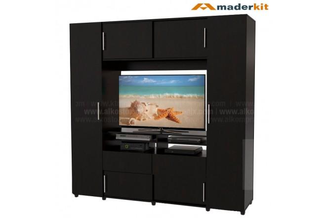 Armario TV MADERKIT Dupla 6 Puertas 00840-CL-W-R