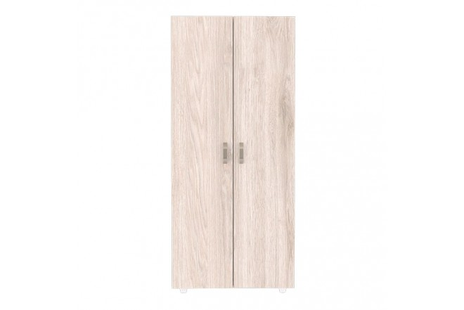 Armario 80 cm MADERKIT Puertas Abatibles Ceniza