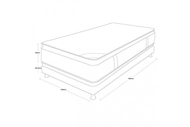 KOMBO SPRING: Colchón 100 x 190 Life New C5 + Base cama Salim Sencilla