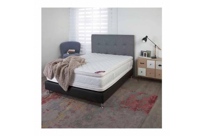 KOMBO SPRING: Colchón Resortado Doble Descanso Perfecto 140 x 190 cm + Base Cama Salin6