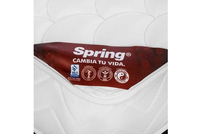 KOMBO SPRING: Colchón Resortado Doble New one 140 x 190 cm + Base Cama Decco