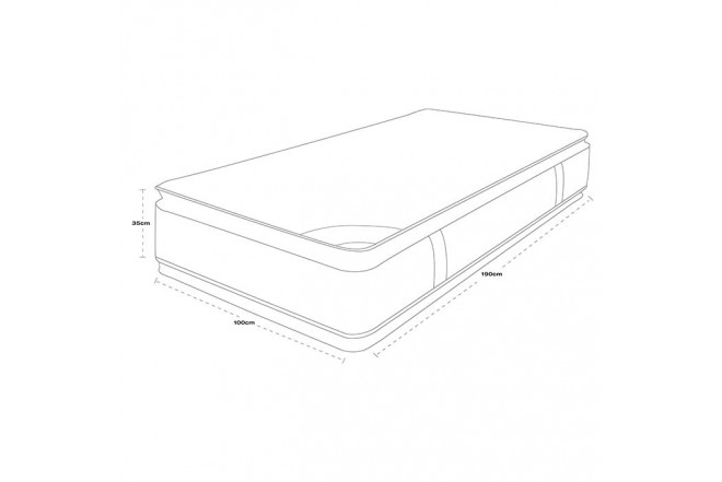 Colchón Resortado Sencillo SPRING New 5 100 x 190 cm