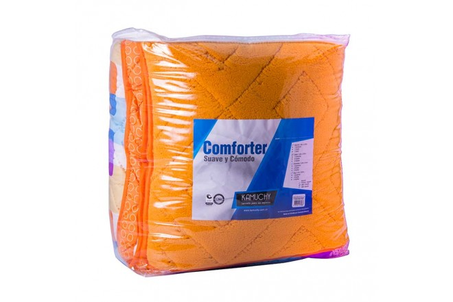 Comforter Estampado KAMUCHY Doble Ovejero Naranja