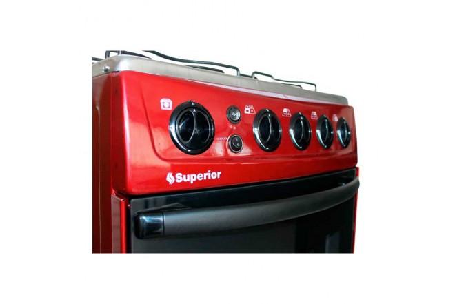 Estufa de Piso SUPERIOR Aluminium VH50EE GN Rojo2
