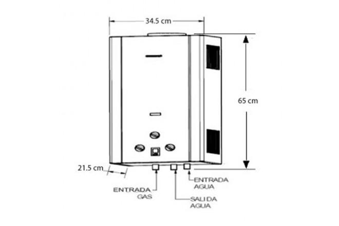 Calentador de Paso CHALLENGER 10Lt Tiro Natural 7102 GN2