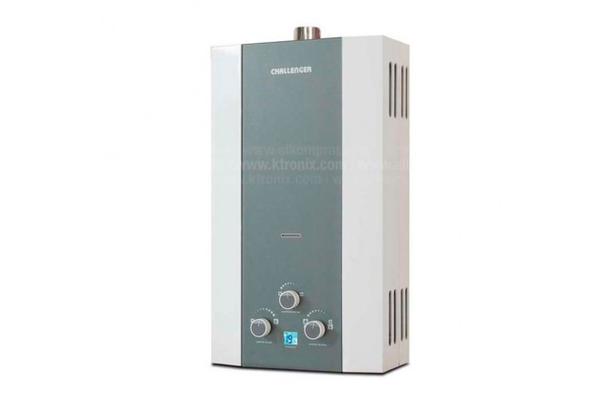 Calentador de Paso CHALLENGER 10LT WH7104G Tiro Forzado GN1