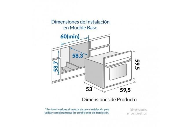 Horno de Empotrar CHALLENGER 60cms Mixto 1.2560.38.04 Negro2