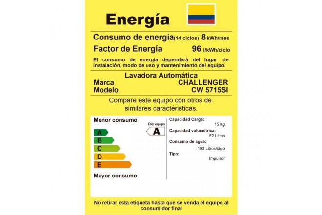 Lavadora CHALLENGER 15Kg CW5715 Gris