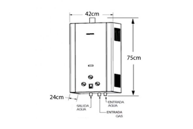 Calentador de Paso CHALLENGER 16LT Tiro Forzado WH7116G GN2
