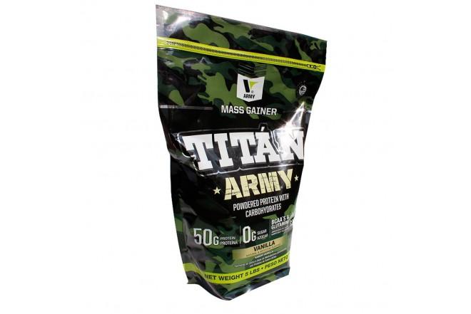 Proteína TITÁN ARMY X 5 libras vainilla 1