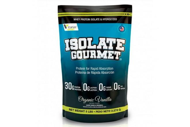 Proteína ISOLATE GOURMET X 5 libras vainilla orgánica 1