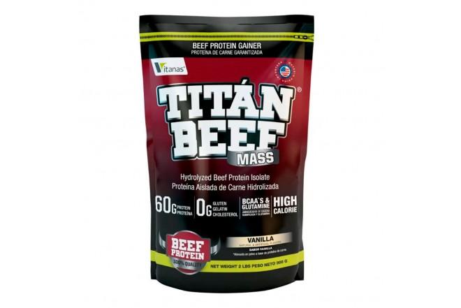 Proteína TITAN BEEF MASS X 2 libras vainilla 1