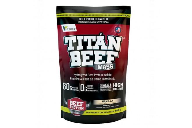 Proteína TITAN BEEF MASS X 5 libras vainilla 1